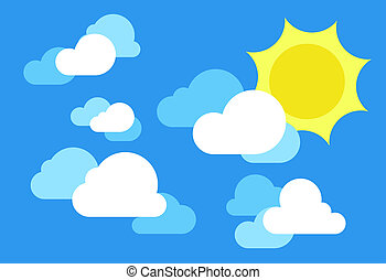 blue clear sky with sun and clouds blue clear sky with sun rh canstockphoto com ski clipart ski clip art free