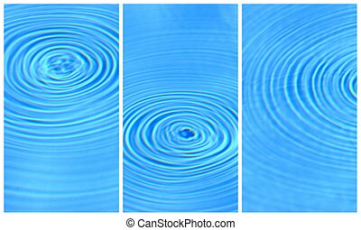 Blue clear water round ripples collection