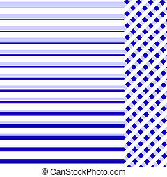 Blue cloth background with lines for sample text