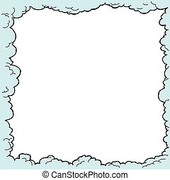Blue Cloud Border