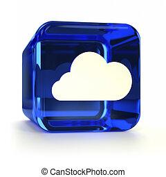 Blue Cloud Computing Icon