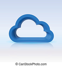 Blue cloud, digital concept for your design