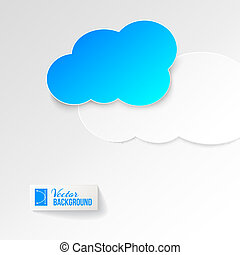 Blue cloud icon.