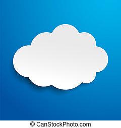 Blue Cloud Label