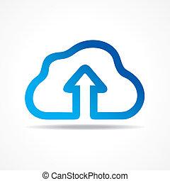 Blue cloud make a business arrow