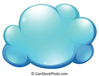Blue cloud on white
