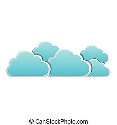 blue cloud sticker icon