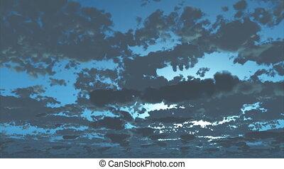 Blue cloud Time Lapse