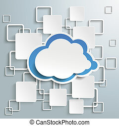 Blue Cloud White Rectangles Infographic PiAd
