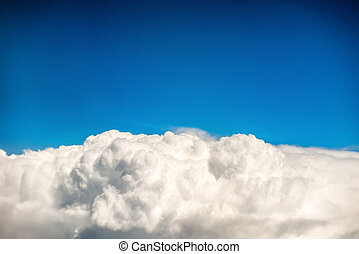 Blue clouds and sky
