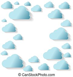 Blue Clouds On White Background