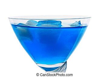 Blue cocktail closeup