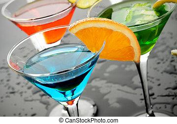 Blue cocktail drink