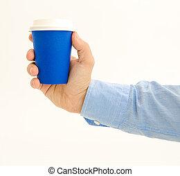 Blue coffee to go