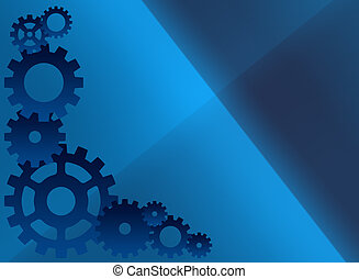 Blue cog background - A blue background illustration...