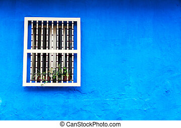 Blue Colonial Wall