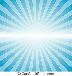 blue color burst background.