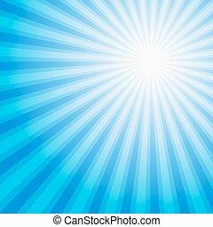 Blue color burst background. Vector illustration.
