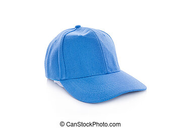 Blue color cap isolated over white background