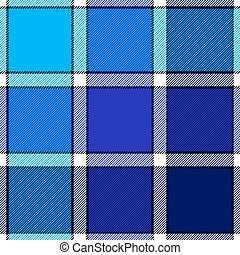 Blue color check plaid seamless pattern