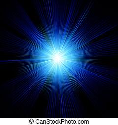 Blue color design with a burst. EPS 10
