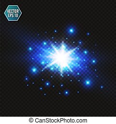Blue color design with a burst. Vector illustration.