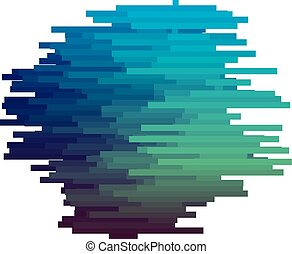 Blue color glitch texture vector illustration. Abstract stripe background. Motif for invitation, header, card, poster.