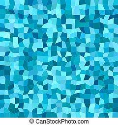 Blue color irregular rectangle mosaic background