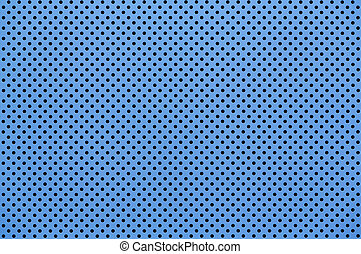 Blue color Perforated metal sheet - Close up Blue color...