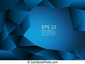 Blue color polygon abstract background modern design, Vector illustration with copy space