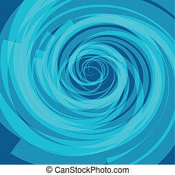 Blue Color Spiral Background vector