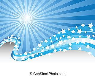 blue color waves