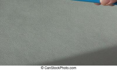 blue color wax crayon pastel paint artist tool - blue color...
