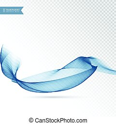 blue colored abstract transparent wave background