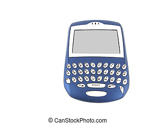 Blue colored Blackberry isolated over white