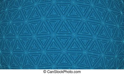 Blue Colorful Concentric Triangles Rotating Network