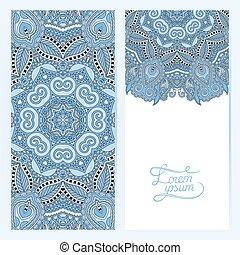 blue colour decorative label card for vintage design