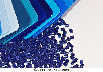 blue colour samples - Color samples with blue polymer resin