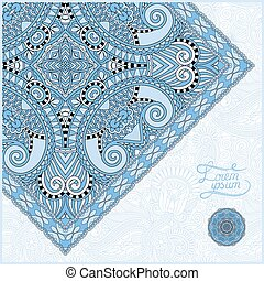 blue colour unusual floral ornamental template