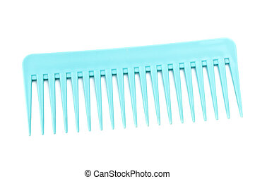 Blue comb isolated on the white background