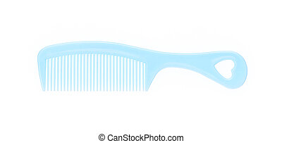 blue comb, isolated on white background.