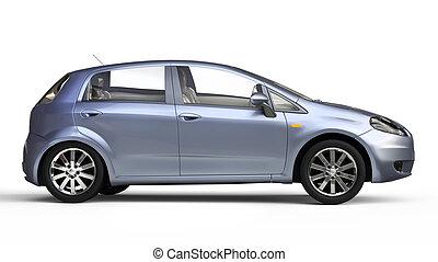 Blue Compact Car