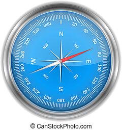 Blue Compass, vector eps10 illustration