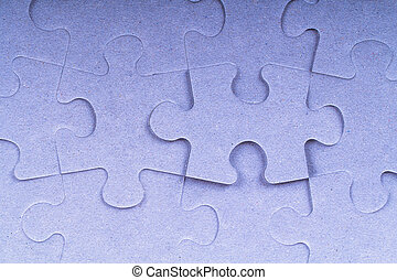 Blue Complete Puzzle Pieces - Blue complete puzzle pieces.