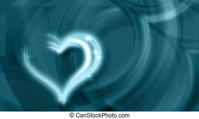 Blue concentric hearts
