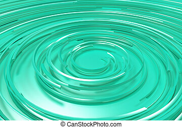 Blue concentric spiral on blue background