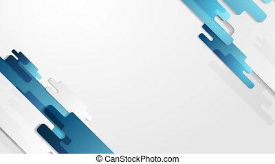 Blue concept geometric tech video animation - Blue concept...