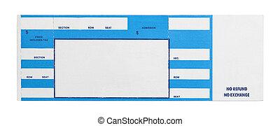 Blue Concert Ticket