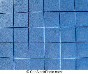 Blue Concrete Block Wall