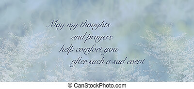 Blue condolence sympathy card background
